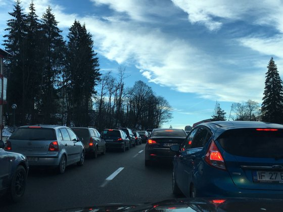 Imaginea articolului Trafic îngreunat pe DN1, între Predeal şi Buşteni, pe sensul către Bucureşti