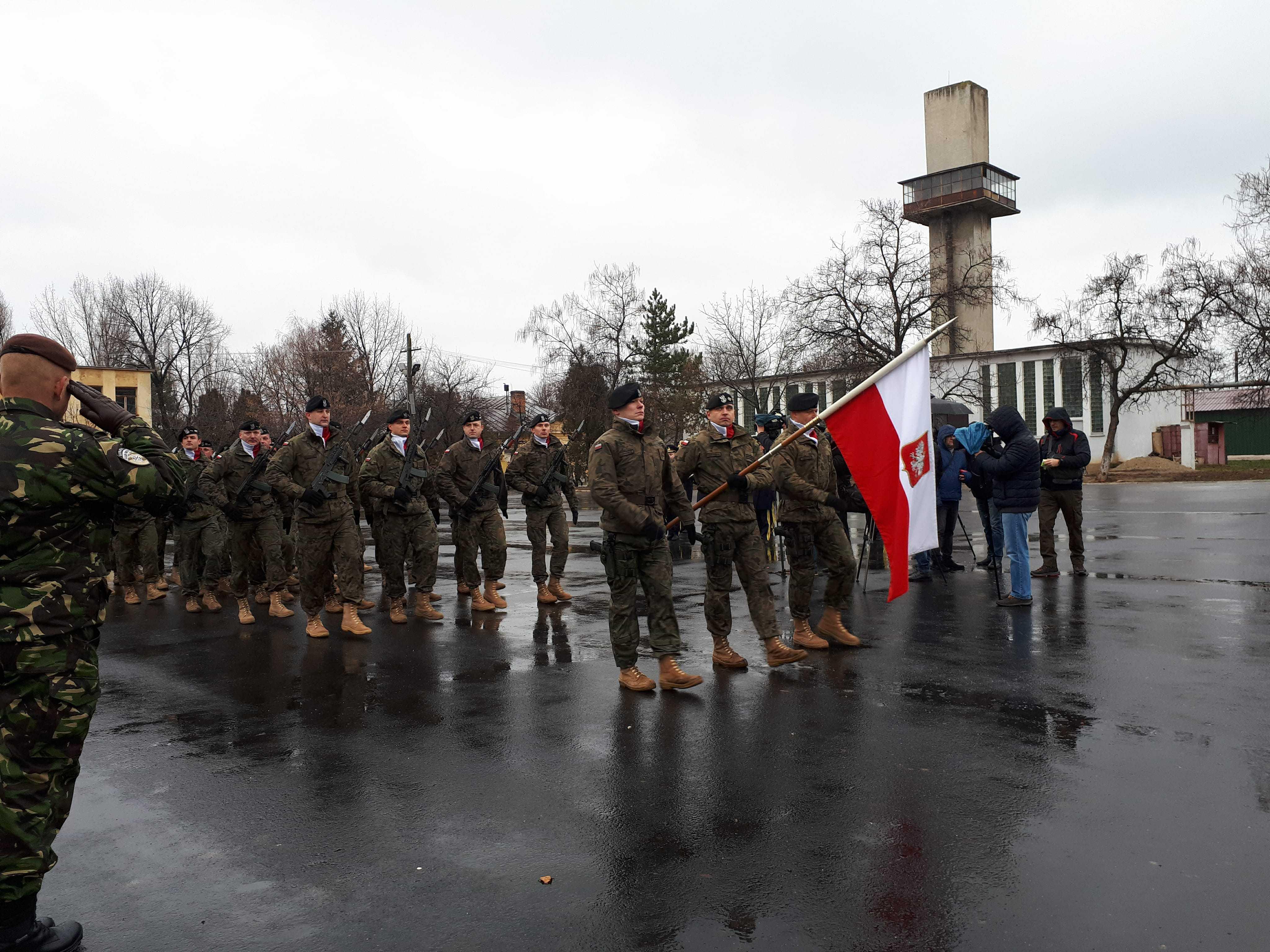 Contingentul militarilor polonezi din cadrul Brigăzii Multinaţionale Sud-Est a NATO, schimbat la Craiova   FOTO