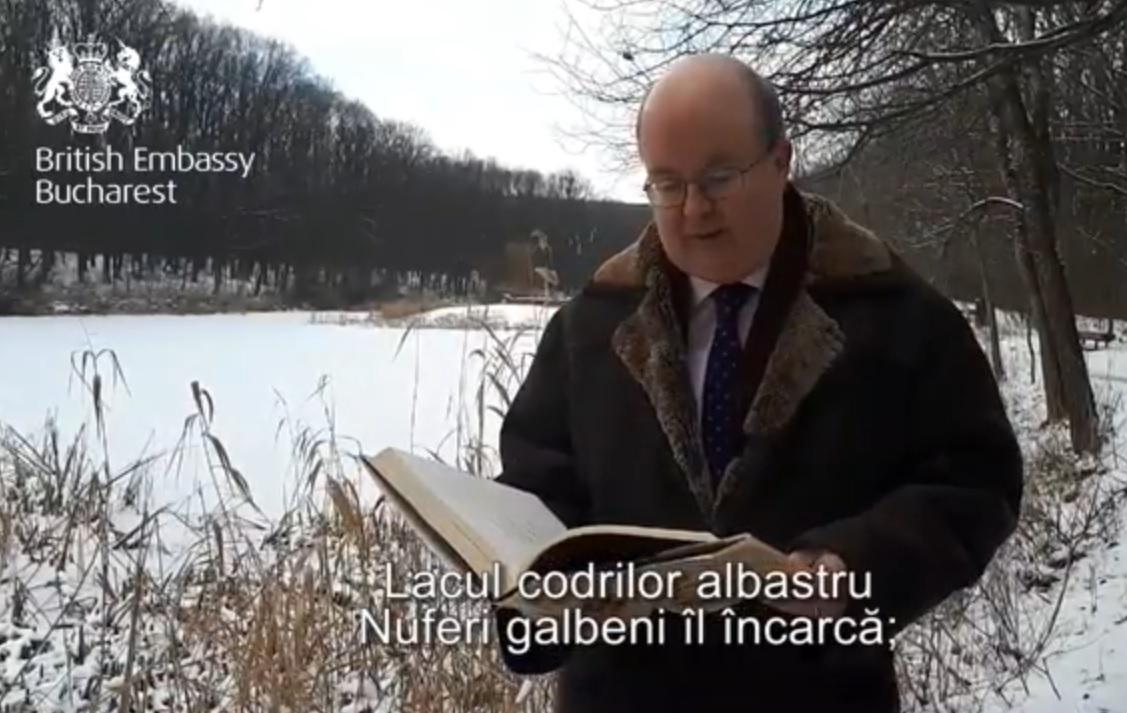 Ambasadorul Marii Britanii şi cel al Germaniei au recitat versuri de Mihai Eminescu de Ziua Culturii - VIDEO