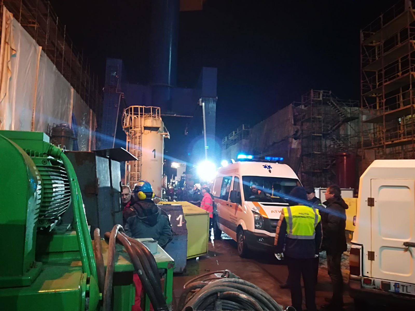 Accident de muncă la Şantierul Naval Tulcea; un muncitor a murit | FOTO, VIDEO