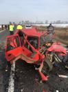 Imaginea articolului Accident grav la ieşirea din Orăştie: Trei oameni au murit în urma impactului dintre două maşini | FOTO