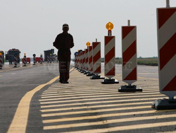 Lucrări pe Autostrada A1 Bucureşti-Piteşti