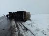 Imaginea articolului O cisternă încărcată cu 23 de tone de butanol şi octanol s-a răsturnat într-un sens giratoiu din Neamţ \ FOTO