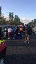 Imaginea articolului Accident rutier în judeţul Ilfov. Şapte persoane implicate. Două victime, inconştiente | FOTO
