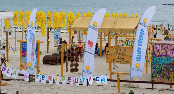 Imaginea articolului Plaja terapeutică din Mamaia, destinată persoanelor cu dizabilităţi, ocupată de turiştii de ocazie