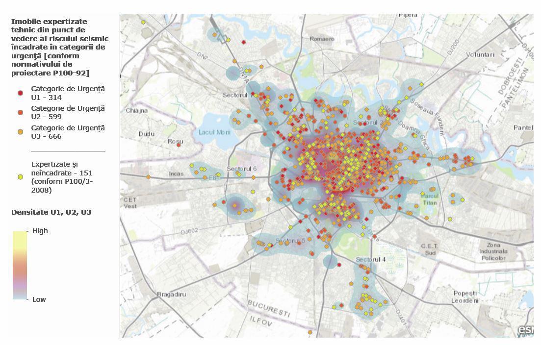 Harta Punctelor Rosii De Cutremur Din Bucuresti Capitala Pe