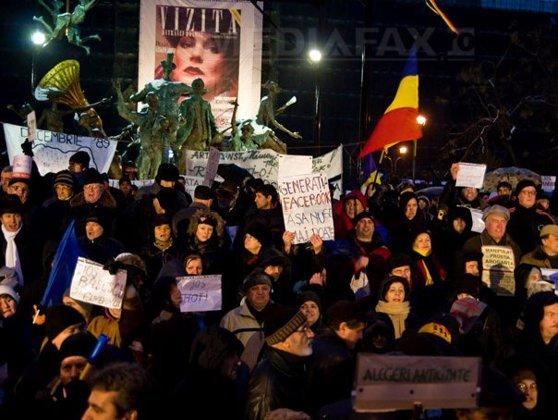 Imaginea articolului A NOUA ZI DE PROTESTE ÎN CAPITALĂ, încheiată fără incidente - GALERIE FOTO