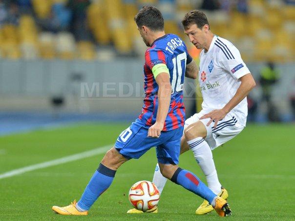 Steaua a fost �nvinsa de Dinamo Kiev, scor 3-1, �n grupa J a Ligii Europa