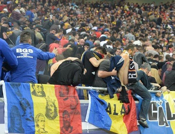 UEFA a deschis o procedura disciplinara dupa incidentele de la meciul Rom�nia - Ungaria