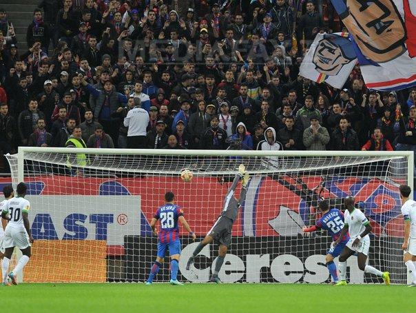 Liga Europa: Steaua �nvinge Rio Ave, scor 2-1, si obtine a doua victorie �n grupa J