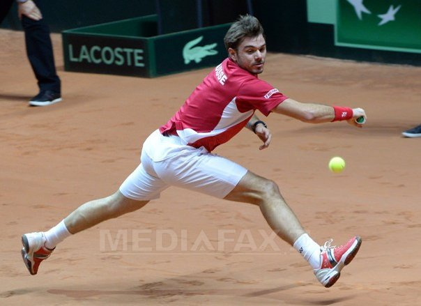 FINALA Cupei Davis: Franta-Elvetia, scor 1-1. Wawrinka l-a �nvins pe Tsonga, iar Federer a pierdut �n fata lui Monfils