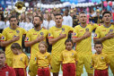 Imaginea articolului Echipamentul tricolorilor a fost împrumutat unei echipe din Vaslui. Tricourile lui Chiricheş şi ale jucătorilor Naţionalei, purtate de moldoveni