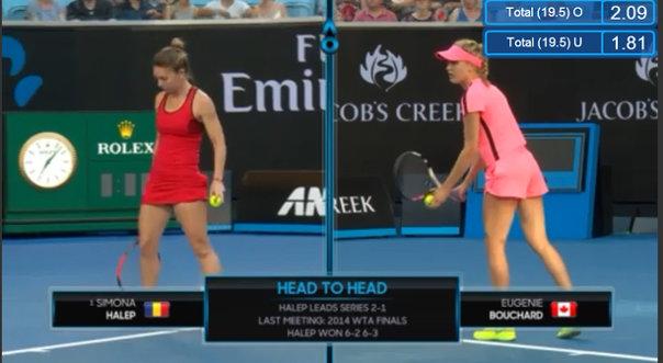 Imaginea articolului Australian Open | Victorie pentru Simona Halep care se califică astfel în turul trei ! Românca a dominat-o pe Eugenie Bouchard şi a învins-o cu 6-2, 6-2