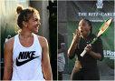 """Imaginea articolului Simona Halep, LOVITĂ cu mingea de Serena Williams la un meci demonstrativ! """"Amicalul"""" nu s-a desfăşurat conform aşteptărilor"""