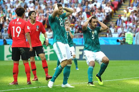 Imaginea articolului CM 2018 Germania, ELIMINATĂ de la Campionatul Mondial de Fotbal, după ce Coreea de Sud a marcat în prelungiri