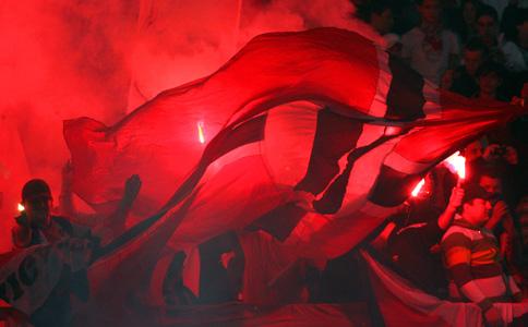 Ultras Choreos (Pyro, Flags, Smokes) Dinamo-rapid-6