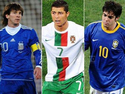 Globoesporte  Cristiano Ronaldo  Kaka   I Messi Disp  Ru  I