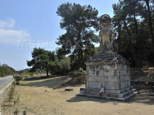 Un mozaic bine conservat, descoperit �ntr-un morm�nt antic misterios din Grecia
