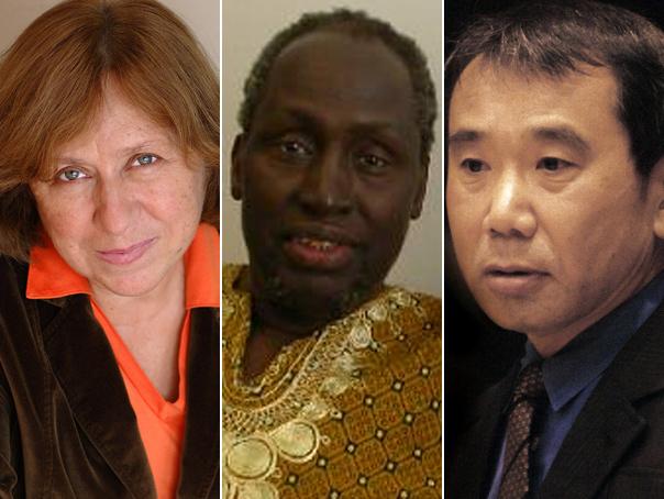 Marii favoriti pentru premiul Nobel pentru literatura: Aleksievici, Wa Thing'o si Murakami