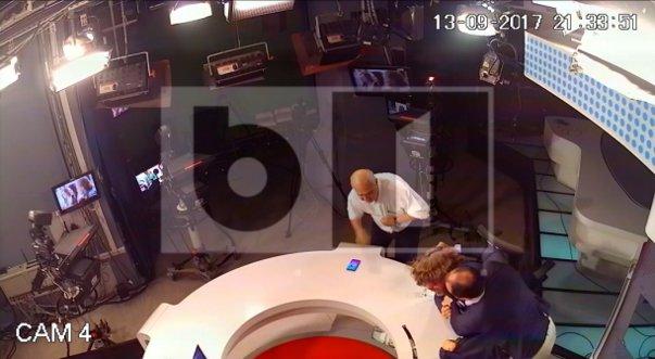 Imaginea articolului Noi imagini din timpul bătăii de la B1TV: Mirel Palada pare că vrea să îl lovească cu capul de masă pe Mihai Goţiu   FOTO, VIDEO