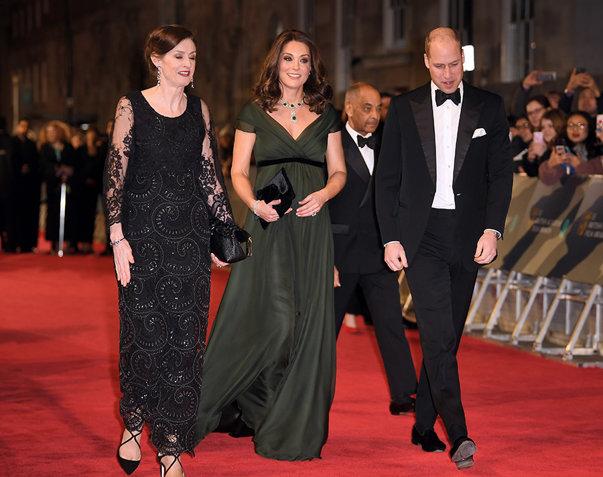 Imaginea articolului Gala BAFTA 2018: Starurile, în negru pe covorul roşu: Angelina Jolie, Jennifer Lawrence, Lupita Nyong'o, sprijin pentru Time's Up / Ducesa Kate a purtat o rochie verde închis | FOTO