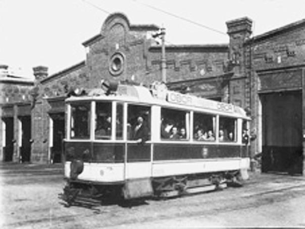 Primul tramvai electric in Bucuresti
