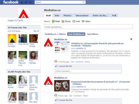 Imaginea articolului Mediafax.ro, cel mai popular brand de ştiri generale pe Facebook