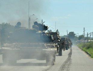 """TANCURI RUSEŞTI au atacat un oraş din Ucraina: """"Au distrus toate casele"""""""