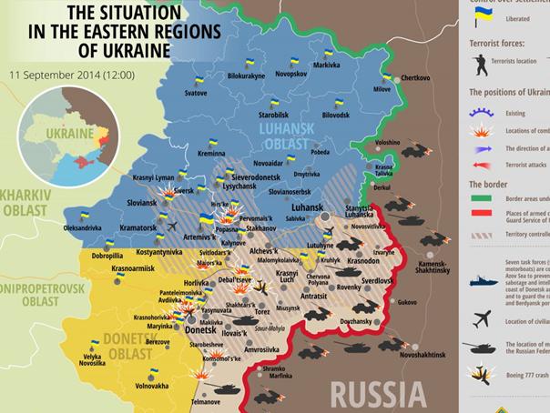 Harta Conflictului Din Ucraina Kiev Rebelii Prorusi Si Au