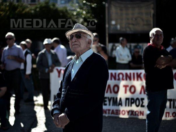 Mii de pensionari greci au manifestat la Atena �mpotriva taierii pensiilor