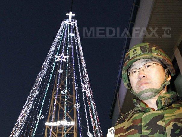 Coreea de Sud a demontat un turn �n forma de brad de Craciun de la frontiera care irita Phenianul
