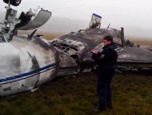 PRIMELE IMAGINI cu avionul prăbuşit în care şi-a pierdut viaţa unul dintre cei mai puternici oameni din lume - VIDEO