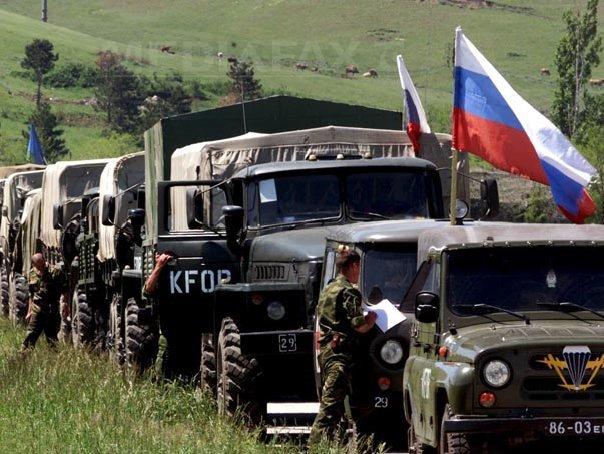 Kievul afirma ca zeci de camioane cu �ntariri din Rusia se �ndreapta spre estul Ucrainei