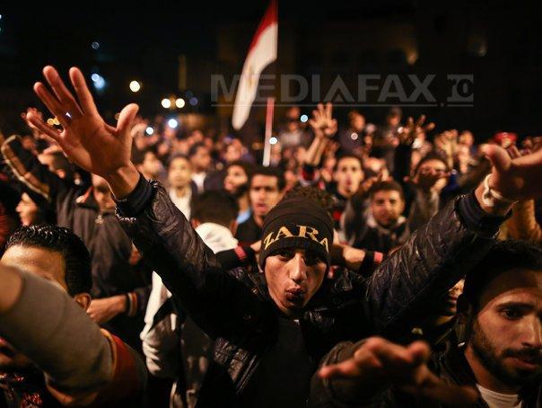 Protest dispersat cu gaze lacrimogene si tunuri de apa la Cairo, dupa verdictul �n cazul lui Mubarak