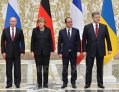 Imaginea articolului Hollande, Poroşenko, Putin şi Merkel au constatat progrese în implementarea Acordului de la Minsk
