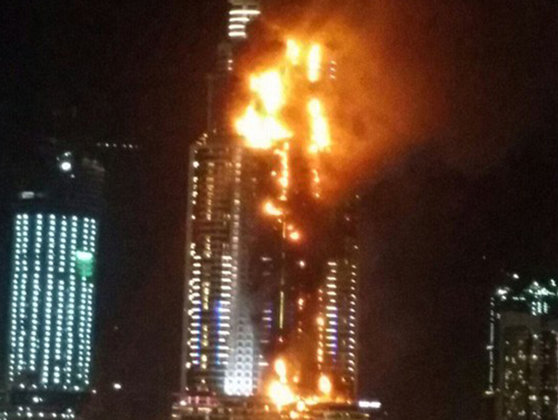 Imaginea articolului INCENDIU puternic la un hotel din Dubai, în seara de Revelion: Cel puţin un mort şi 14 răniţi  - VIDEO