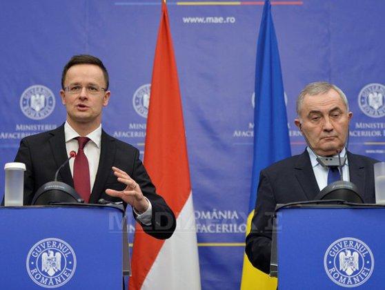 Imaginea articolului Ministrul maghiar de Externe, Peter Szijjarto, la Bucureşti: Momentan nu se construieşte gard între Ungaria şi România