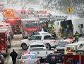 Imaginea articolului Cel puţin 30 de răniţi într-un accident produs în nord-estul Statelor Unite, pe fondul viscolului - FOTO, VIDEO