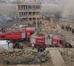 Explozie la o secţie de poliţie din Turcia: Mai mulţi morţi şi răniţi după un atentat cu maşină-capcană - FOTO