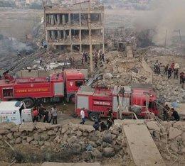 BREAKING NEWS:  Explozie cu maşină-capcană la o secţie de poliţie din Turcia: Zeci de morţi şi răniţi - FOTO