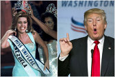 """Trump, noi afirmaţii scandaloase la adresa unei foste câştigătoare Miss Universe care o susţine pe Clinton. RĂSPUNSUL tinerei """"dezgustătoare"""""""