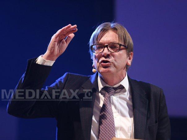 Imaginea articolului Guy Verhofstadt se retrage din cursa pentru preşedinţia Parlamentului European, unde candidează şi un europarlamentar român