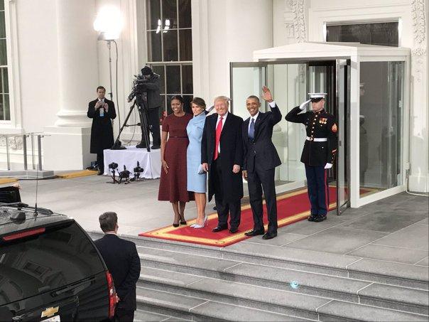 Imaginea articolului Donald Trump devine azi cel mai puternic om al planetei. Urmăreşte AICI ceremonia de învestire / Donald şi Melania Trump au sosit la Casa Albă / LIVE TEXT