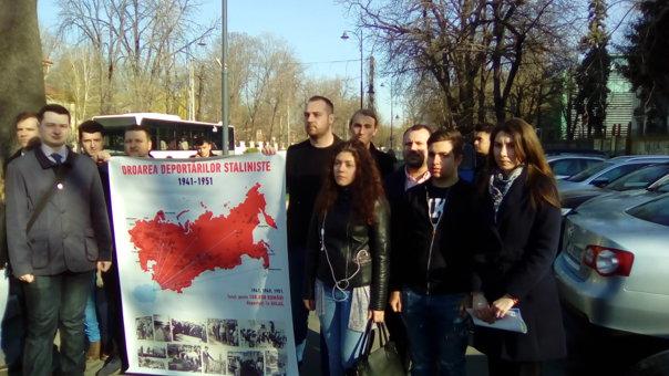 """Imaginea articolului FOTO Organizaţia de Tineret a PMP a vrut să-i """"reîmprospăteze"""" memoria lui Vladimir Putin, de Ziua Unirii Basarabiei cu România. Ce i-au cerut membrii liderului rus"""
