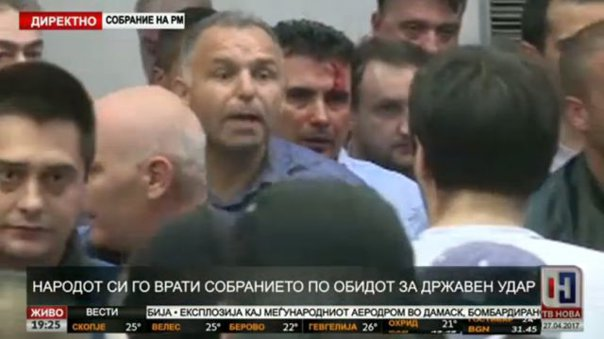 Imaginea articolului Rusia, reacţie după violenţele din Parlamentul de la Skopje: Uniunea Europeană şi Statele Unite sunt vinovate pentru criza politică din Macedonia