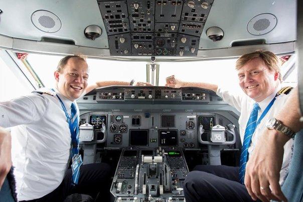 Imaginea articolului KLM confirmă: Regele Olandei, Willem-Alexander, este copilot pe rutele europene