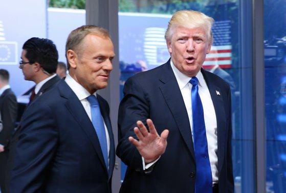 Imaginea articolului Donald Trump vrea intensificarea cooperării cu UE şi este preocupat de efecte negative ale Brexit asupra SUA. Donald Tusk: Rămân unele probleme în relaţia cu Washingtonul