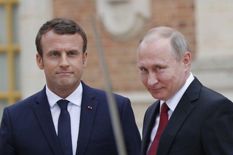 VIDEO, FOTO|: Macron înainte de întâlnirea cu Putin: .....cuvinte dure