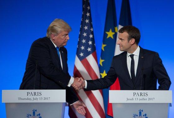 Imaginea articolului Donald Trump şi Emmanuel Macron au discutat despre modalităţile de soluţionare a crizei nord-coreene