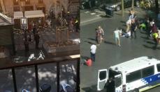 Imaginea articolului VIDEO   Primele imagini cu MOMENTUL în care furgoneta a intrat în mulţime la Barcelona. Bilanţul victimelor atacurilor teroriste din Spania: 14 morţi şi 130 de răniţi